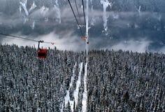 Gondolas in the Rockies. Gondolas in the Canadian Rockies Royalty Free Stock Images