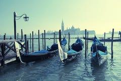 Gondolas, Saint Mark square,Venezia, Italy Royalty Free Stock Image