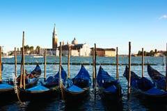 Gondolas and San Giorgio Maggiore Stock Images