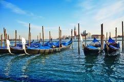 Gondolas and San Giorgio maggiore in Venice Royalty Free Stock Image