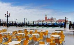 Gondolas by san giorgio maggiore, Venice, Italy Stock Image