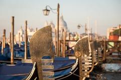 Gondolas at  san marco Stock Photo