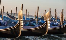 Gondolas at  san marco Stock Photography
