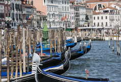 Gondolas San Marco Venice Stock Photo