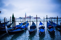 Gondolas at St Marco Square in Venice, Italy Royalty Free Stock Images