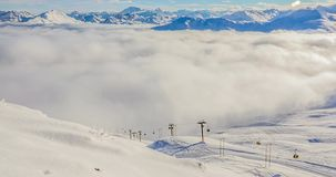 Gondolas Timelapse Alps 4k stock video
