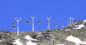 Gondolas to the Molltaler Glacier, Austria Stock Photos