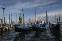 Gondolas. From a Trip around Venice, Italy Stock Image