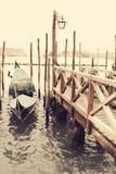 gondolas Venecia Italia Imágenes de archivo libres de regalías