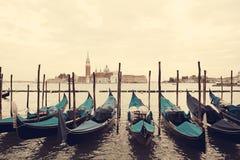 gondolas Venecia Italia Fotos de archivo
