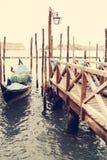 gondolas Venetië Italië Stock Foto