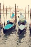 gondolas Venetië Italië Stock Afbeeldingen