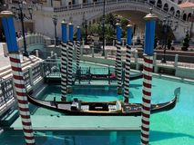 Gondolas at the Venetian casino las vegas Royalty Free Stock Photography