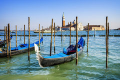 Gondolas in Venezia Royalty Free Stock Photos