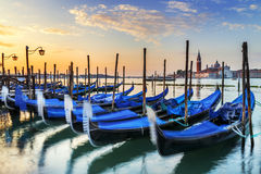Gondolas in Venezia Stock Photo