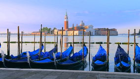 Gondolas in Venezia stock video footage