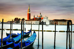 Gondolas in Venezia Stock Photography