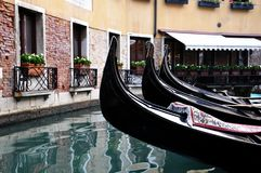 Gondolas in Venezia stock photo
