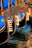Gondolas in Venice. In canalgrande Royalty Free Stock Photography