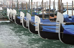 Gondolas in Venice Royalty Free Stock Images