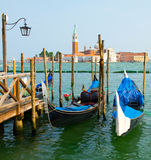 Gondolas in Venice . Royalty Free Stock Photo
