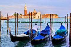 Gondolas of Venice Stock Images
