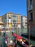 Gondolas Venice. Gondolas at canal Venice, Italy royalty free stock images