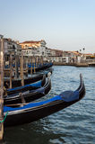 Gondolas in Venice. Royalty Free Stock Images