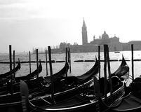 Gondolas. Venice canal water Royalty Free Stock Photo