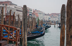 Gondolas of Venice. Channels and streets of Venice. Gondolas on the canals of Venice. Venetian architecture. Bridges over the canals Royalty Free Stock Photos