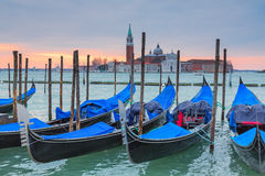 Gondolas of Venice Stock Photography