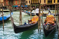 Gondolas in Venice Stock Photography