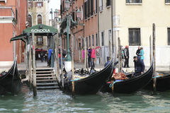 Gondolas in Venice Stock Images