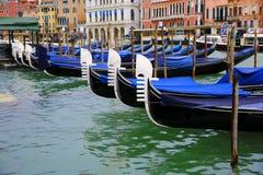 Gondolas in Venice, Italy. Gondolas in the Venice, Italy Royalty Free Stock Photo