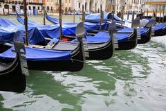 Gondolas in Venice, Italy. Gondolas in the Venice, Italy Stock Photo