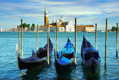 Gondolas in Venice, Italy Stock Photos