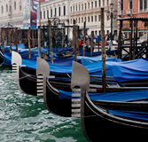 Gondolas in Venice. Italy. Royalty Free Stock Photo