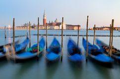 Gondolas in Venice - Italy Royalty Free Stock Image
