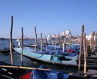 Gondolas, Venice, Italy. Royalty Free Stock Images