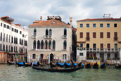 Gondolas in Venice,  Italy. Stock Photo