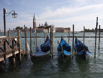Gondolas in Venice. Gondolas in Venice, Italy Royalty Free Stock Photos