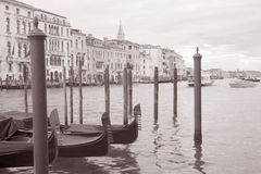 Gondolas in Venice, Italy Royalty Free Stock Images