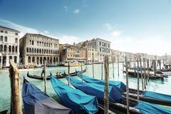 Gondolas in Venice, Italy. Royalty Free Stock Photo