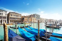 Gondolas in Venice, Italy. Royalty Free Stock Images