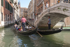 Gondolas in Venice, Italy Royalty Free Stock Photo