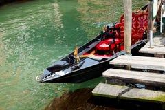 Gondolas in Venice-Italy. Gondola on the Venetian Lagoon Stock Photo
