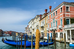 Gondolas in Venice, Italy Royalty Free Stock Images