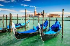 Gondolas in Venice, Italy Stock Photo