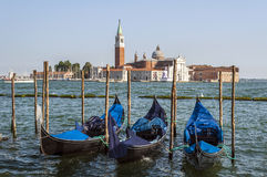 Gondolas in Venice. Royalty Free Stock Image