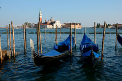 Gondolas in Venice in Italy Stock Photography